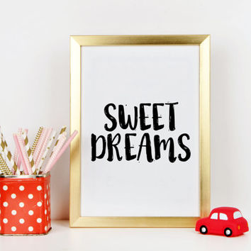 Gift idea Gift for baby  Nursery Printable Sweet Dreams Print Nursery Poster Boys Decor Instant Download Home Decor Printable quotes