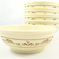 Vintage Syracuse China Bowls, Set of Six