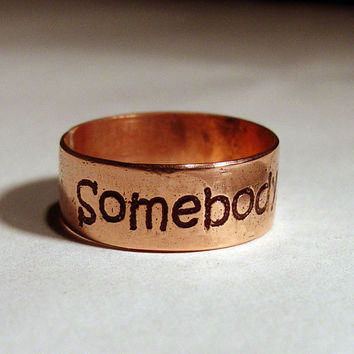 Somebody Stop Me copper ring etched by MineOverMatter on Etsy