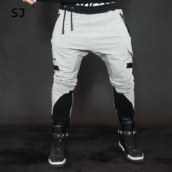 2016 winter harem pants men cotton  joggers motorcycle brand clothing