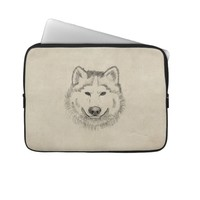 Wolf Power Laptop Computer Sleeves