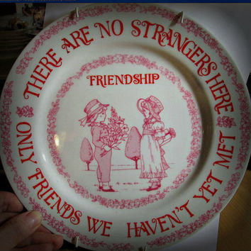 Friendship Plate Made In Japan, Porcelain, Kitchen Decor, Home Decor, Wall Decor, Table Decor
