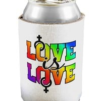Love Is Love Lesbian Pride Can / Bottle Insulator Coolers