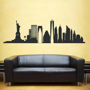 ik1164 Wall Decal Sticker New York City Statue of Liberty American room bedroom