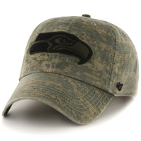 Seattle Seahawks '47 Brand Officer Clean Up Adjustable Hat - Camo