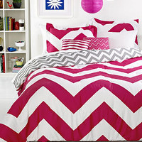 Chevron Pink 5 Piece Comforter Sets - Teen Bedding - Bed & Bath - Macy's