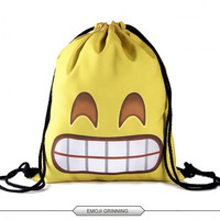 Emoji Backpack Backpacks 3D Printing Bags Drawstring Bag