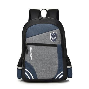 School Backpack 2018 spring new canvas s fashion stitching student school bags for boys travel children backpack mochila escolar AT_48_3