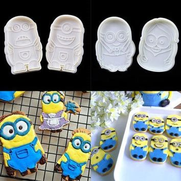 Despicable Minions Cake Fondant Chocolate Cutter Mold Biscuit Cookies Mould Decorating For The Kitchen Baking A152
