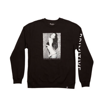 TWO TONE CREWNECK - BLACK