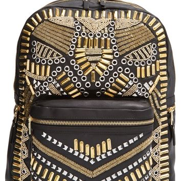 Ash 'Zuma' Studded & Beaded Leather Backpack | Nordstrom