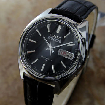 #Mens 1970's #Seiko S #Actus Automatic wrist #watch with Day/Date Setting in Japanese / English