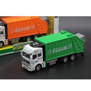 Clean Car Garbage Truck Alloy Model toys