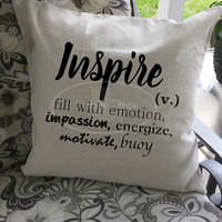 Script throw pillow cover set!  Choose 2, 3, 4, or 5 designs!