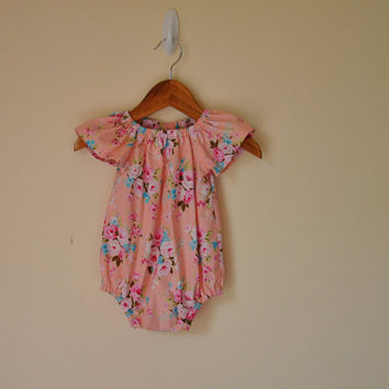 Playsuit/Romper Peach - Short Sleeve