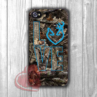 Love Browning Deer Camo - DiL4 for iPhone 6S case, iPhone 5s case, iPhone 6 case, iPhone 4S, Samsung S6 Edge