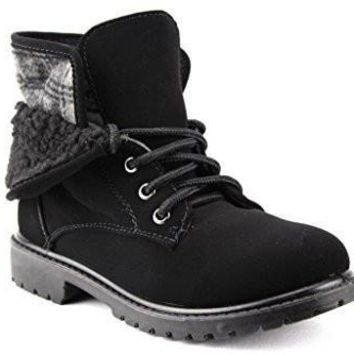 Kids Unisex BWY-03 Fleece Lined Fold Down Collar Desert Chukka Boots