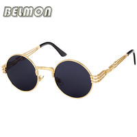 Retro Steampunk Sunglasses Goggles Men Women Brand Designer Sun Glasses For Ladies Classic Punk Vintage Female Male Oculos RS094