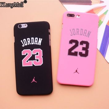 Fashion Fundas Coque Case For iphone 6 6S 6Plus 7 7Plus SE 5 5s Case Oil Hard PC 23 Jordan Air Pattern Phone Cases TPU Cover