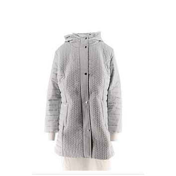 Isaac Mizrahi Live! Chevron Quilted Puffer Coat with Hood