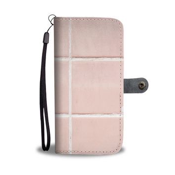 Retro Pink Tile Phone Wallet Case