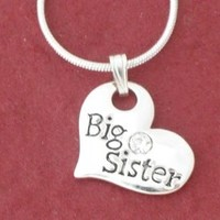 BIG SISTER Heart Pendant Necklace