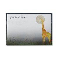 Giraffe and Moon | Custom Post-it® Notes