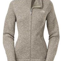 Gliks - The North Face Crescent Sunset Full Zip Jacket for Women in Oatmeal Heather