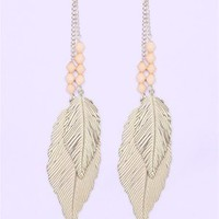 A'GACI Tinted Layer Leaf Dangle W/Bead - New Arrivals