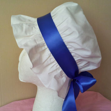 White Regency Cap, Girls and Women's Sizes