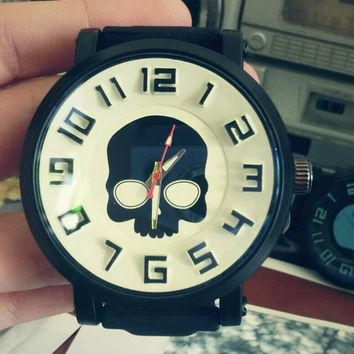 Vintage Skull Silicone Watch