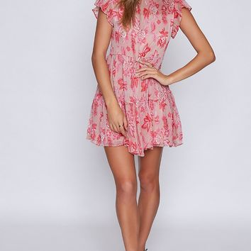 Scandal Dress Pink Floral