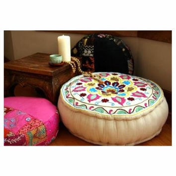Round Meditation Floor Cushions