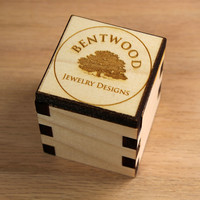 Wooden Laser Cut Ring Box