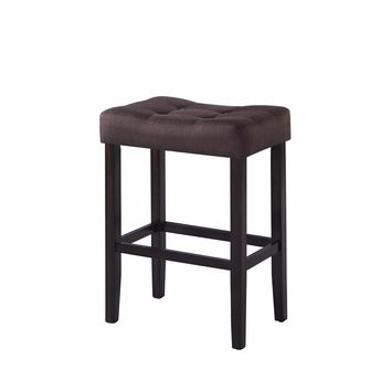Backless Modern Bar Stool, Brown ,Set of 2