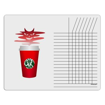 Red Cup Satan Coffee Chore List Grid Dry Erase Board by TooLoud