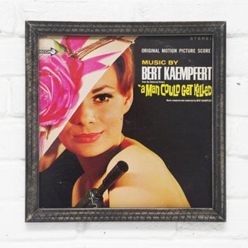 Bert Kaempfert, A Man Could Get Killed, Framed Wall Decor, Vintage Vinyl Cover, Handmade Frame, LP Record Art, Wall Art