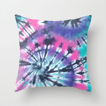 Tie Dye Love Throw Pillow by Pink Berry Patterns