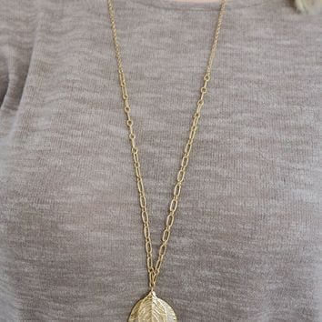 Leaves Are Falling Necklace: Gold/Silver