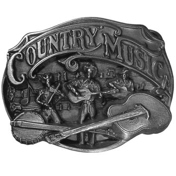 Sports Accessories - Country Music Antiqued Belt Buckle