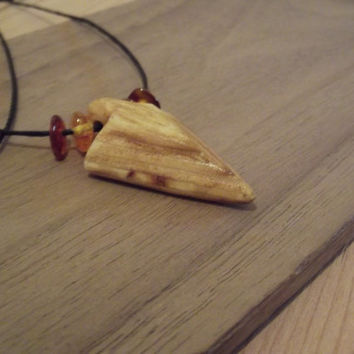 Wooden Pendant - Pine Odin's Spear Hand Made