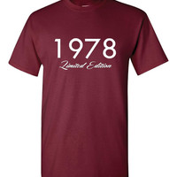 1978 Limited Edition Birthday T Shirt Great Gift Born In 1978 Happy 36th Birthday T Shirt Great Birthday Gift 25 Colors & All Styles