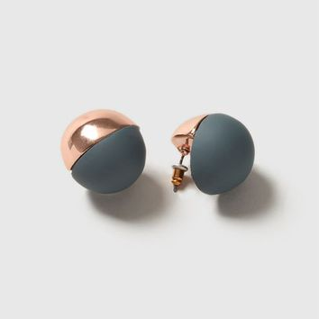 Half Rubber Ball Earrings - Jewelry - Bags & Accessories