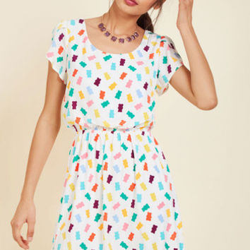 Oh My Gosh A-Line Dress in Gummy Bears | Mod Retro Vintage Dresses | ModCloth.com
