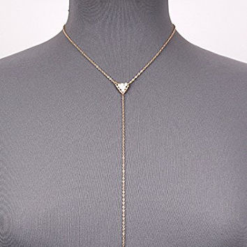Womens Jewelry, Gold Tone Long Pendant Necklace. Length: 26 Inches.
