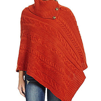 Anna & Ava Cable Knit Poncho
