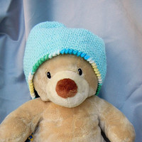 Crochet Cloche Cotton Aqua with Turquoise White and by CroweShea
