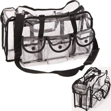 Casemetic PC01BK Black Large Makeup Clear Bag - Pc01 - Walmart.com
