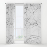 Marble Texture Window Curtains by Printapix