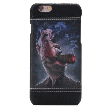 Man cigarette Leather Hard Case Cover for iPhone 6 6S 4.7 inch